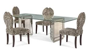 richard bourbon dining table tables bassett mirror company borghese round pedestal glass top dining awe inspiring mirrored furniture bedroom sets