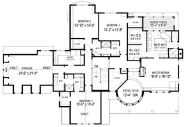 Plan W GA  Spectacular Home for the Large Family   e    W GA
