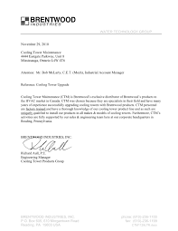 references ctm is s leading cooling tower service company brentwood industries reference letter 25 2002
