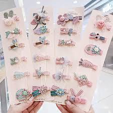 3/<b>5pcs</b>/<b>Set</b> New Girls Cute Rainbow Star <b>Flower Hairpins</b> Children ...