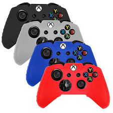 <b>4x</b> (<b>Blue</b>,<b>White</b>,Black,Red) Silicone Rubber Gel Cover Case fit Xbox ...