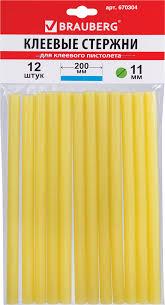 <b>Клеевые стержни</b>, диаметр 11 мм, длина 200 мм, желтые ...