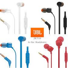 <b>JBL T110</b> In-ear Headphones Stereo Music Bass Sports Earphon ...