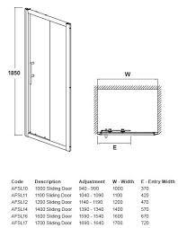 sliding patio door size chart