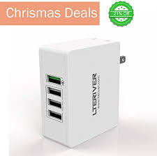 LTERIVER Four Port 35W Wall <b>Charger</b> with Qualcomm <b>Quick</b> ...