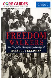 this interview civil rights activist rosa parks describes her dom walkers the story of the montgomery bus boycott by russell dman intended for grade 7 teachers this guide can be used modifications