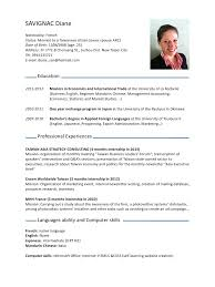 cv english language skills sample document resume cv english language skills describing language skills jobline lmu lmu munich cvdianesavignacpdf par diane savignac fichier