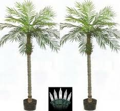 8' <b>Artificial Phoenix Palm Tree</b> Pot Topiary Pool 7 5 6 Patio Date ...