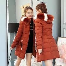 <b>2018 Women</b> Hooded Warm <b>Wadded Coat</b> Winter Jackets Big Fur ...