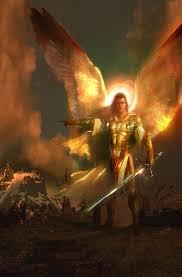 """Ärkeängeln Michael vars namn betyder """"Vem är lik gud"""" han leder härarna och var den som kastade ut Lucifer och hans föjeslagare ur himlen. - archangel_michael"""