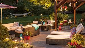 lighting ideas for outdoor living backyard string lighting ideas