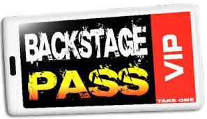 Image result for backstage concert passes