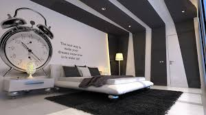 amazing black and white accent walls color schemes of modern bedroom for teenager with best wallpaper and quotes as well as queen size beds on black rugs black white style modern bedroom silver