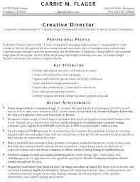resume examples  marketing resume example customer service resume        resume examples  marketing resume example for creative director and professional profile with key strength and