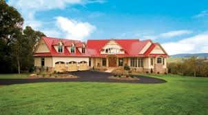 Photo Tour   Donald A  Gardner Architects  Inc  The Blue Ridge    A classic red metal roof adds country flair to this estate plan
