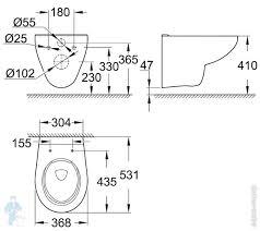 <b>Унитаз Grohe</b> Bau Ceramic 39427000 (368х410х531) <b>подвесной</b> ...