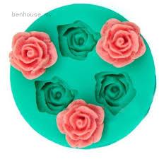 SuperDeals <b>3D Rose Flower</b> Silicone Chocolate Fondant Cake ...
