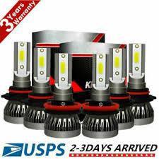 <b>9005 9006 H11 Combo</b> CREE LED Headlight Fog Kits Bulb 6000K ...
