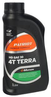 <b>Масло</b> для садовой техники <b>PATRIOT</b> G-Motion Terra HD <b>SAE</b> 30 1 л