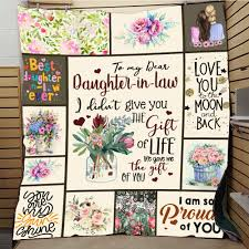 <b>SOFTBATFY</b> To My Daughter in Law Quilt Print All Season Quilt For ...