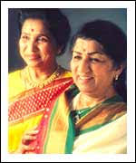 His portraits delve deep into the emotion of each individual, searching with the experienced eyes of the artistic lensman. Asha Bhosle and Lata Mangeshkar - asha-lata