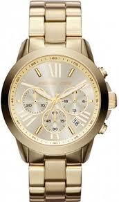 men s michael kors runway gold chronograph watch mk5777