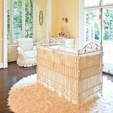 decor crib rod iron luxury khaki iron bratt decor crib matched with khaki wall for baby