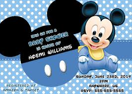 mickey mouse baby shower invitations com mickey mouse baby shower invitations some touches on your baby shower to make it carry out remarkable invitation templates printable 3