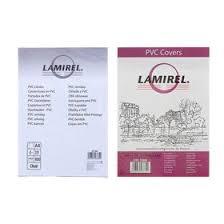 <b>Обложки</b> 100шт <b>Lamirel Transparent</b> A4, PVC, прозрачные, 150мкм