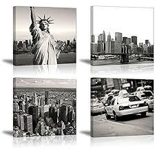 New York <b>Wall</b> Art for Bedroom, SZ <b>Urban</b> NY City Picture <b>Print</b>