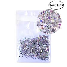 1440шт 1,5 мм Crystal <b>AB</b> вокруг <b>ногтей</b> стразами смешанные ...