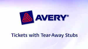 avery tickets tear away stubs x matte white avery tickets tear away stubs 1 3 4 x 5 1 2 matte white 200 tickets