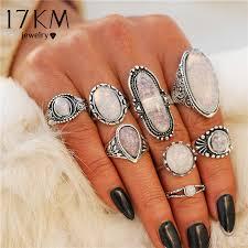 17KM <b>New Design</b> Vintage Opal Knuckle Rings <b>Set</b> For Women ...