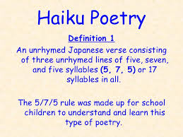 Image result for haiku poetry