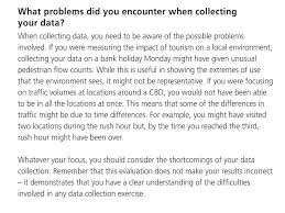Geography coursework  Evaluation LO  to evaluate data collection     SlideShare