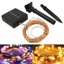 <b>10m 100led solar</b> powered copper wire fairy string light for ...