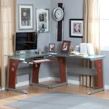 small space and awesome for home office fascinating tempered glass table top brown awesome corner office desk