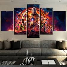 New <b>5 Pieces HD</b> Print Large Avengers Infinity War Movie Poster ...