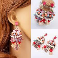 Twins <b>Hot Sale</b> Ethnic <b>Bohemia Handmade</b> Tassel Earrings Coin ...