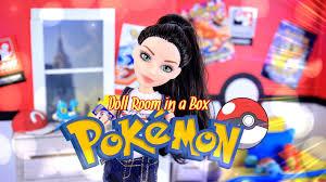 Pokemon Bedroom Decor Diy How To Make Doll Room In A Box Pokemon Handmade Room