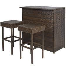 rattan patio table set