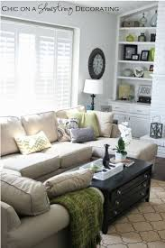 narrow living room client living room makeover reveal by chic on a shoestring decorating blog pillows and other