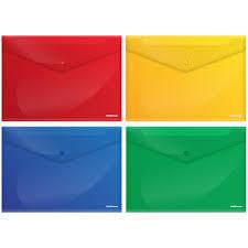<b>Папка</b>-конверт на кнопке <b>Erich Krause Metallic</b>, А4, 180мкм ...