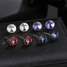 Купите earrings stud with <b>crystal swarovski</b> онлайн в приложении ...