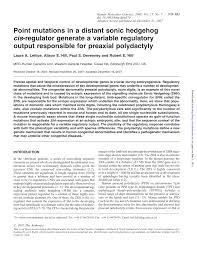 (PDF) Point mutations in a distant sonic hegehog cis-regulator ...