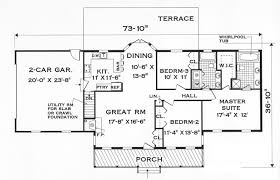 GREAT ONE STORY   Bedrooms and   Baths   The House DesignersFloor plan