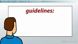 director of operations job description requirements