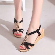 WENYUJH <b>Summer</b> Bohemian Platform High Heels <b>Women</b> ...