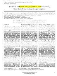 (PDF) The 36-18 Ma <b>Central</b> Nevada ignimbrite field and calderas ...