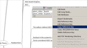 Copy bibliographic data from SciPlore MindMapping   Docear to your PhD thesis in MS Word